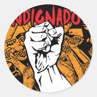 Indignados Classic Round Sticker