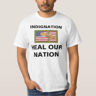 INDIGNATION HEAL OUR NATION TEE SHIRT