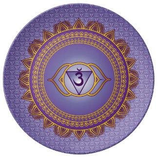 Indigo, Ajna 6th Chakra Plate