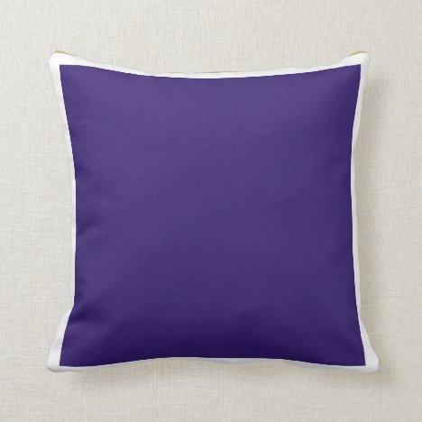 Indigo and Gold Throw Pillow