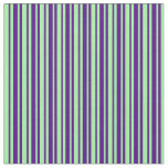 [ Thumbnail: Indigo and Green Pattern Fabric ]