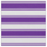 [ Thumbnail: Indigo and Lavender Lined/Striped Pattern Fabric ]