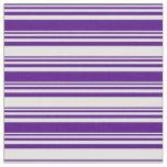 [ Thumbnail: Indigo and Light Cyan Lined/Striped Pattern Fabric ]