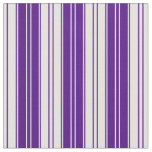 [ Thumbnail: Indigo and Light Cyan Stripes Fabric ]