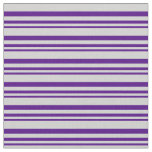 [ Thumbnail: Indigo and Light Grey Colored Lined Pattern Fabric ]