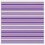 [ Thumbnail: Indigo and Light Yellow Pattern of Stripes Fabric ]