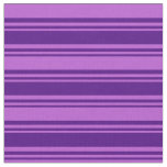 [ Thumbnail: Indigo and Orchid Colored Pattern of Stripes Fabric ]