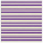 [ Thumbnail: Indigo and Pale Goldenrod Lines Pattern Fabric ]