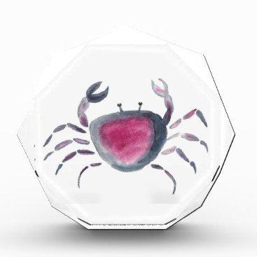 Beach Themed Indigo and Pink Crab Award