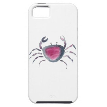 Beach Themed Indigo and Pink Crab iPhone SE/5/5s Case