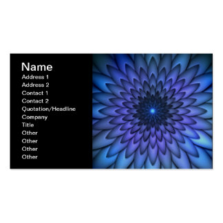 Indigo and Purple Abstract Flower Art Double-Sided Standard Business Cards (Pack Of 100)