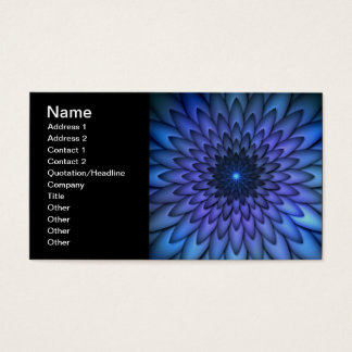 Indigo and Purple Abstract Flower Art Business Card