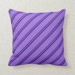 [ Thumbnail: Indigo and Purple Colored Lines Pattern Pillow ]