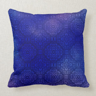 Indigo and Purple Geometric Pattern Pillows