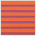 [ Thumbnail: Indigo and Red Stripes/Lines Pattern Fabric ]