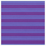 [ Thumbnail: Indigo and Royal Blue Pattern of Stripes Fabric ]