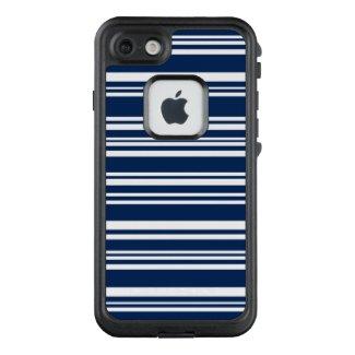 Indigo and White Mixed Stripes LifeProof FRĒ iPhone 7 Case