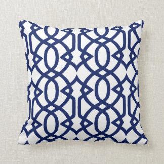 Indigo and White Pillow