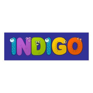 Indigo - animal alphabet mini business card