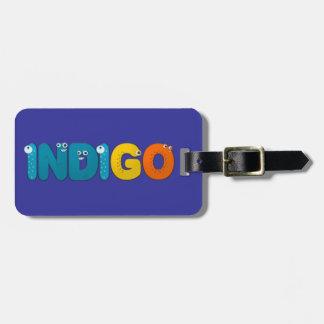 Indigo - animal alphabet tag for bags