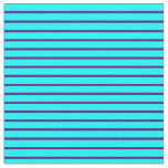 [ Thumbnail: Indigo & Aqua Lines Fabric ]