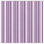 [ Thumbnail: Indigo & Bisque Pattern Fabric ]