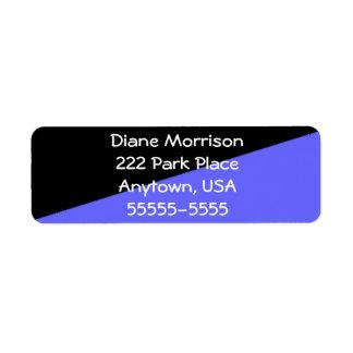 Indigo Blue and Black Return Address Labels