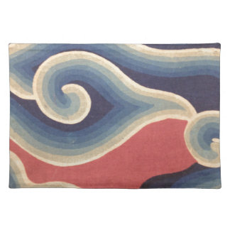 Indigo Blue Coral Japanese Wave Placemat