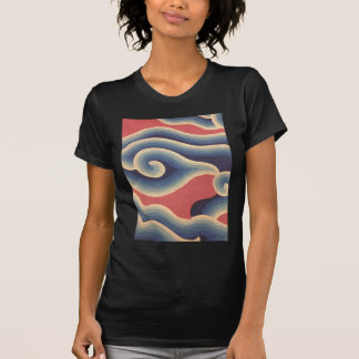 Indigo Blue Coral Japanese Wave T-Shirt