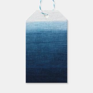 Indigo Blue Dip Dyed/Ombre' Fade Ocean Beauty! Gift Tags