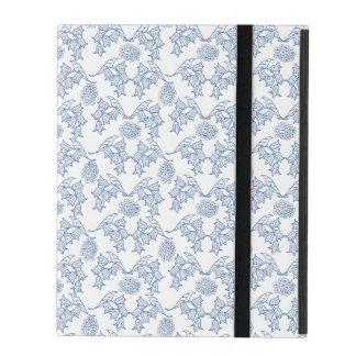 Indigo Blue Ethnic Floral Print iPad Case