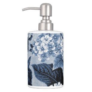 Indigo Blue Floral Toile No.1 Bathroom Set