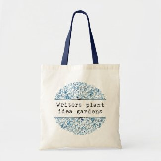 Indigo Blue Floral | Writers Plant Idea Gardens Tote Bag