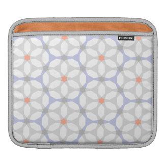 Indigo Blue Geometric Pattern Sleeve For iPads