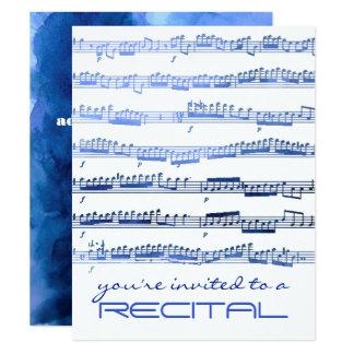 indigo blue music recital invitation