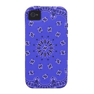 Indigo Blue Paisley Western Bandana Scarf Print iPhone 4/4S Case