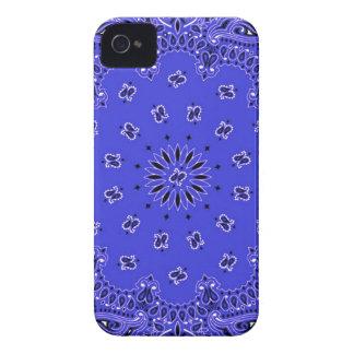 Indigo Blue Paisley Western Bandana Scarf Print iPhone 4 Covers