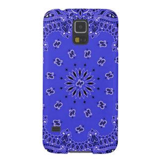Indigo Blue Paisley Western Bandana Scarf Print Case For Galaxy S5