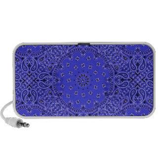 Indigo Blue Paisley Western Bandana Scarf Print iPhone Speakers