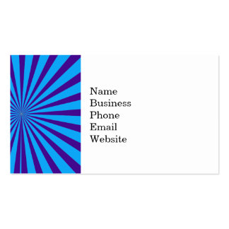Indigo Blue Purple Starburst Sun Rays Tunnel View Business Card