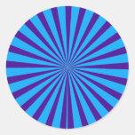 Indigo Blue Purple Starburst Sun Rays Tunnel View Sticker