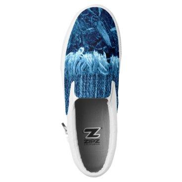 Beach Themed Indigo Blue Unisex Artist Designed Sneakers