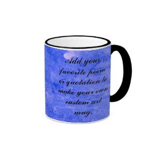 Indigo Blue Watercolor Art Painting Coffee Mug