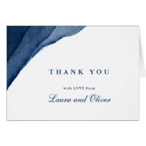 Indigo Blue Watercolor Wedding Thank You Cards