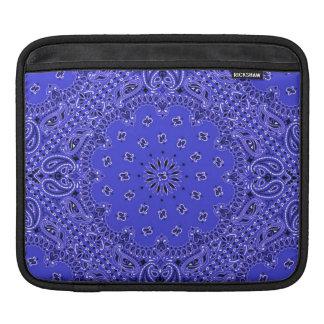 Indigo Blue Western Bandana Paisley Scarf Fabric iPad Sleeve