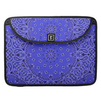 Indigo Blue Western Bandana Paisley Scarf Fabric Sleeve For MacBooks