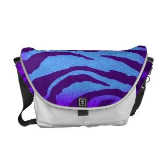 Indigo/Blue Zebra Print Rickshaw Messenger Bag