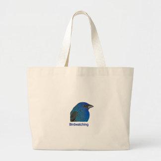 Indigo Bunting Birdwatching Logo Canvas Bag