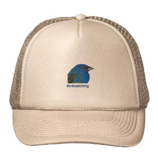 Indigo Bunting Birdwatching Logo Trucker Hat