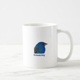 Indigo Bunting Birdwatching Logo Coffee Mug